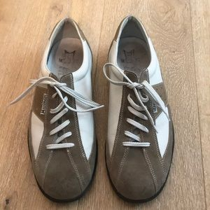 Men's Mephisto tan and white shoes
